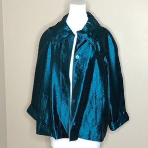 Chico's Lustrous Shine Sindy Jacket Size 3